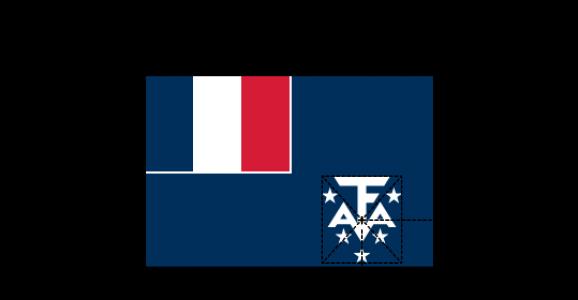 Flaggenspezifikation: Französische Süd- und Antarktisgebiete