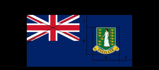 Flaggenspezifikation: Britische Jungfern-Inseln